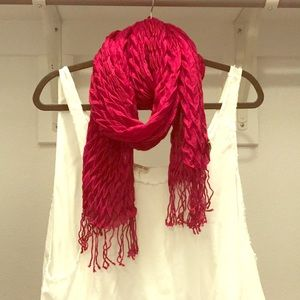 Forever 21 Fuchsia Pink Scarf